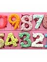 0-9 numere mari dimensiuni tort în formă de ciocolată fondantă silicon mucegai sm-318