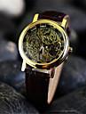 Bărbați Ceas de Mână ceas mecanic Mecanism manual Gravură scobită Piele Bandă Maro Negru Argintiu Auriu