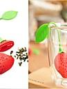 ny silikon jordgubbsdesign tea leaf sikt 1pc, köksredskap