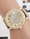 yoonheel Pentru femei Ceas Casual Simulat Diamant Ceas Ceas La Modă Quartz imitație de diamant Metal Bandă Auriu