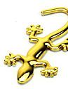 autocolante auto gecko metalic auriu (10 * 4.5)
