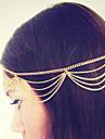 elegant stras lanț de păr femei Lucky Star lui subțire