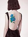 1 pcs Временные тату Временные татуировки Тату с цветами Новый дизайн / Безопасность Искусство тела рука / назад / Стикер татуировки