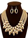 Pentru femei Seturi de bijuterii Cercei Picătură Coliere cu Pieptar Bijuterii Statement European bijuterii de lux La modăTeracotă