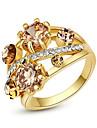 Pentru femei Cristal Inel de declarație - Aliaj Modă O Mărime Auriu Pentru Petrecere