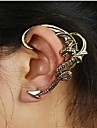 Cătușe pentru urechi European Aliaj Cross Shape Balaur Argintiu Bronz Bijuterii Pentru Nuntă Petrecere Zilnic Casual 1 buc