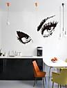 Decalcomanii 3d autocolante de perete de perete, stil oameni ochi fermecător autocolante de perete din PVC