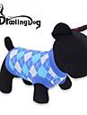 Pisici Câine Tricou Îmbrăcăminte Câini Respirabil Tartan/Carouri Rosu Albastru Costume Pentru animale de companie