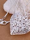 Pentru femei Inimă S925 Sterling Silver Coliere cu Pandativ - Iubire Gol Modă Inimă Coliere Pentru Nuntă Petrecere Zilnic Casual