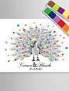e-home® printuri personalizate pictura amprentă panza - desen păun mână (include 12 culori de cerneală)