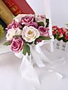 """Flori de Nuntă Rotund Trandafiri Bujori Buchete Nuntă Petrecere / Seară Satin Mătase 9.45""""(Approx.24cm)"""