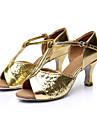 Chaussures de danse(Noir Marron Rouge Argent Or) -Personnalisables-Talon Personnalisé-Satin Paillette-Latine Salsa Salon