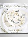 e-home® cadru panza semnatura personalizata trandafir alb
