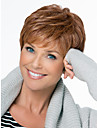 Natural Fluffy High Quality Capless Short Wavy Mono Top Human Hair Wigs Twelve Colors to Choose