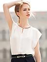 T-Shirts ( Mousseline ) Informel Rond à Manches courtes pour Femme