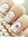 Tecknat/Vackert - Finger - 3D Nagelstickers - av Andra 9.8*6.2*0.1 - cm