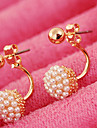 Pentru femei Cercei Stud de Mireasă La modă costum de bijuterii Perle Imitație de Perle Aliaj Minge Bijuterii Pentru Nuntă Petrecere