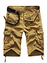 Bărbați Zvelt Drept Solid Talie Medie,Inelastic Drept Pantaloni Scurți Pantaloni Mată