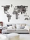 190cm * 116cm mari harta lumii autocolante de perete scrisori zooyoo95ab originale harta de perete decalcomanii de perete dormitor artă