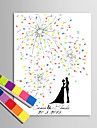 e-home® printuri personalizate pictura amprentă panza - sub mâna focuri de artificii de desen (include 12 culori de cerneală)