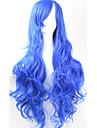 Syntetiska peruker Lockigt Densitet Utan lock Dam Blå Cosplay Peruk Syntetiskt hår