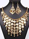 Pentru femei Set bijuterii Σκουλαρίκια Coliere - Vintage Petrecere Birou Casual Declarație Auriu Seturi de bijuterii Pentru Petrecere