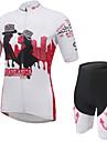Dam Kortärmad Cykeltröja med shorts Cykel Shorts Tröja Klädesset, Andningsfunktion, 3D Tablett