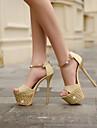 Pantofi pentru femei - Imitație de Piele - Toc Stiletto - Tocuri / Decupați / Platforme - Sandale / Pantofi cu Toc -Nuntă / Casual /