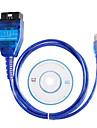 VAG KKL USB + pentru fiat ecu scanare instrument de diagnosticare interfață OBD2 comaptible cu cip original, ft232rl
