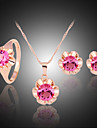 Pentru femei Set bijuterii Seturi de bijuterii - Zirconiu, Zirconiu Cubic, Diamante Artificiale Fucsia