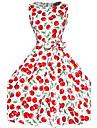 50 de ani Maggie Tang femei cires epocă rockabilly Hepburn pinup cos leagăn partid rochie 570