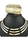 Seturi de bijuterii Manşetă Vintage Petrecere Bijuterii Statement Modă European Placat Auriu Aliaj Circle Shape Brățară Colier