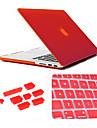 3 în 1 caz mat cu capac tastatură și silicon priza de praf pentru MacBook Pro 15.4 inch (culori asortate)