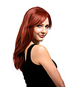 Synthetic Wig Straight With Bangs Side Part Red Women\'s Capless Carnival Wig Halloween Wig Medium Synthetic Hair