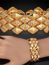 Pentru femei Brățări cu Lanț & Legături Brățări Bangle Bratari Vintage Lux Multistratificat Cristal Ștras Placat cu platină Placat Auriu