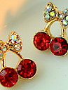 femeile drăguț roșu cireșe delicate diamante cercei stil elegant