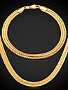 chunky Set bijuterii - Placat Auriu Include Argintiu / Trandafiriu / Auriu Pentru Nuntă / Petrecere / Zilnic / Coliere / Brățară