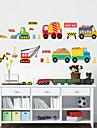 Bande dessinee Forme Transport Stickers muraux Stickers avion Stickers muraux decoratifs Materiel Lavable Amovible Decoration d\'interieur