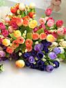 1 Gren Polyester Plast Roser Bordsblomma Konstgjorda blommor
