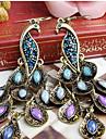 Per donna Zircone cubico Lungo Marchesa Orecchini a goccia ORECCHINI Zircone cubico Strass Orecchini Pavone Importante Donne Vintage Stile Boho Stile Folk Gioielli Royal Blue Per Feste Occasioni