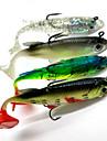 4 pcs פתיונות דיג פיתיון רך Shad Jerkbaits Soft פלסטיק רך שוקע דיג בים Spinning דייג במים מתוקים / דיג בס