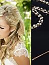 Cristal / Material Textil / Aliaj Diademe / Clip de păr / Lantul Capului 1 Nuntă / Ocazie specială / Party / Seara Diadema / Pini de păr
