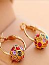 Dame Cercei Rotunzi  Bohemia Stil La modă costum de bijuterii Perle Zirconiu Cubic Ștras Placat Auriu Aliaj Circle Shape Bijuterii Pentru