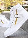 Homme Chaussures Similicuir Hiver Chaussures Vulcanisees Confort pour Decontracte Noir Blanc