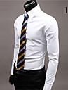 MEN - Cămăși Casual ( Acrilic / Bumbac organic ) Informal Guler cămașă - Mânecă Lungă