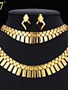 Geometric Set bijuterii - Charm, Vintage, Petrecere Include Guler Auriu / Argintiu Pentru