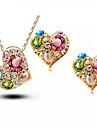 Cristal Set bijuterii - Zirconiu Cubic, Ștras, Cristal Austriac Inimă, Iubire Petrecere, Birou, Modă Include Auriu Pentru Nuntă / Petrecere / Ocazie specială / Σκουλαρίκια / Coliere