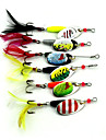 6 pcs Harte Fischkoeder Angelkoeder Buzzbait & Spinnerbait Koeder Loeffel Metal sinkend Seefischerei Spinnfischen