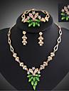 Dame Seturi de bijuterii La modă Pietre sintetice 18K de aur Turcoaz Σκουλαρίκια Lănțișor Brățară Inel Pentru Petrecere Ocazie specială