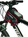 Sac de téléphone portable/Sac de cadre de vélo ( Rouge , Cuir PU/EVA , <10 ) Etanche/Résistant aux Chocs/Multifonctionnel/Ecran tactile